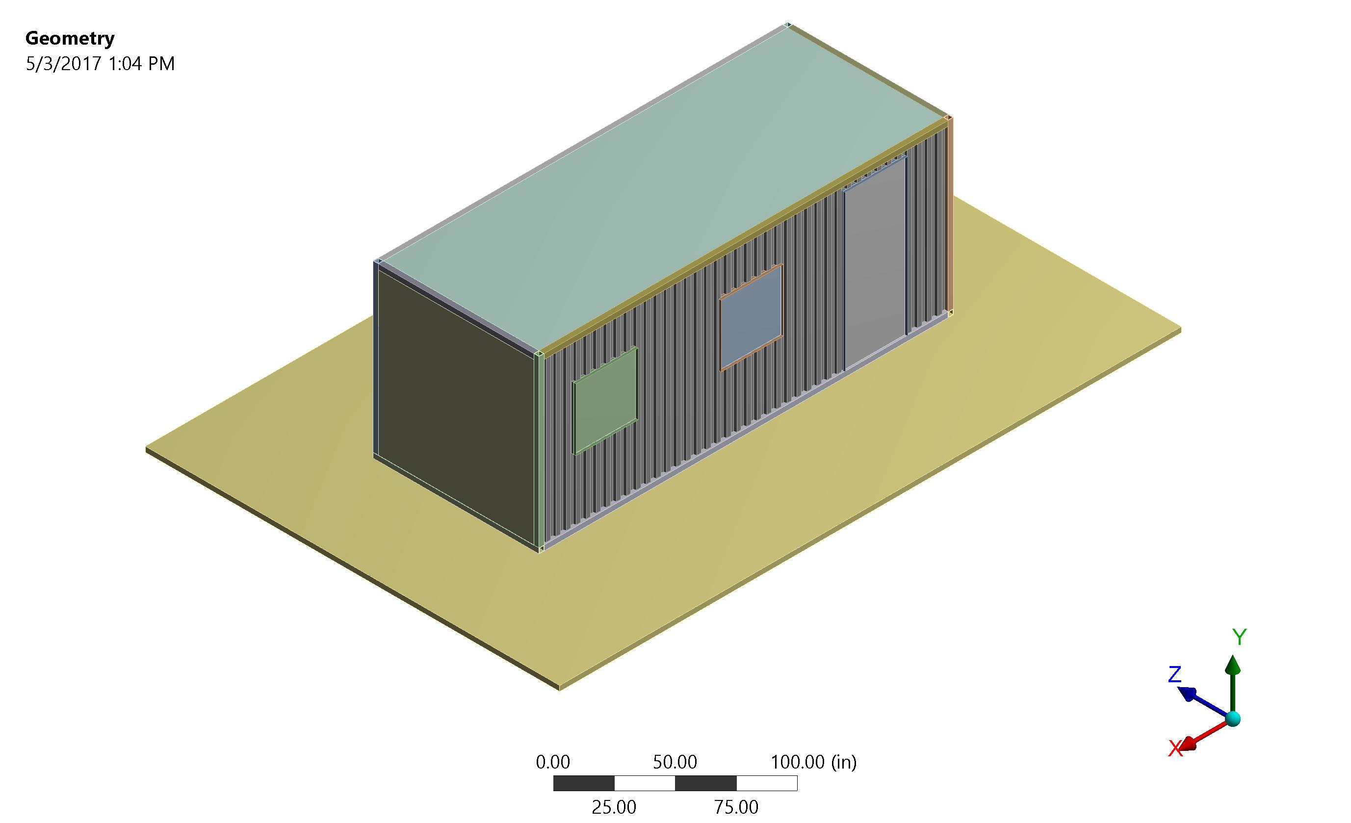 Blast resistant building design with finite element analysis for Modular building design